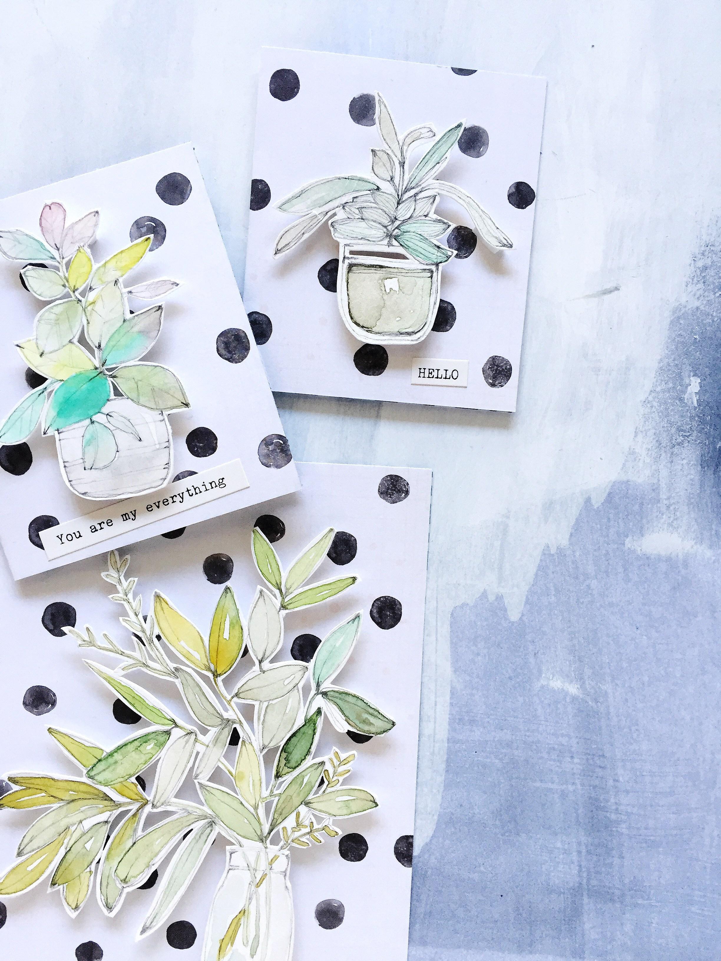 2448x3264 Darling Handmade Watercolor Cards