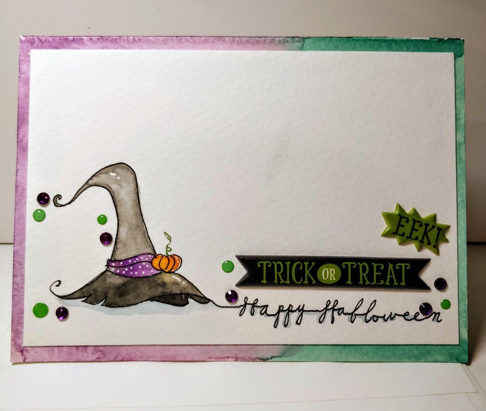 1600x1355 Handmade Watercolor Halloween Cards. 7 X5 Including Envelop