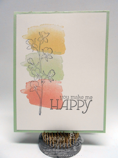500x667 Simple Handmade Card With Happy Watercolor Plus A Trick To Flatten