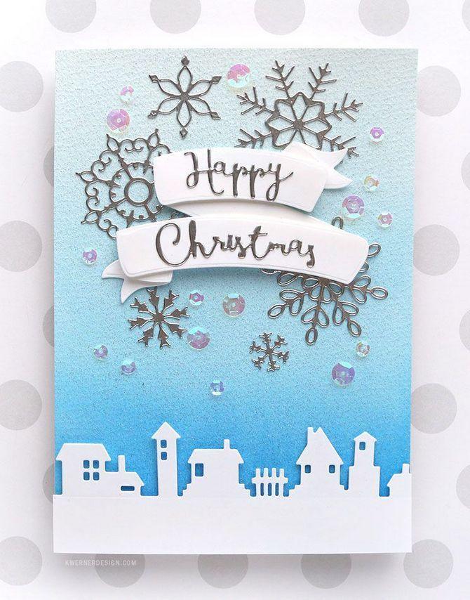 670x854 41 Creative Ways Christmas Cards Handmade Watercolor Winter Scenes