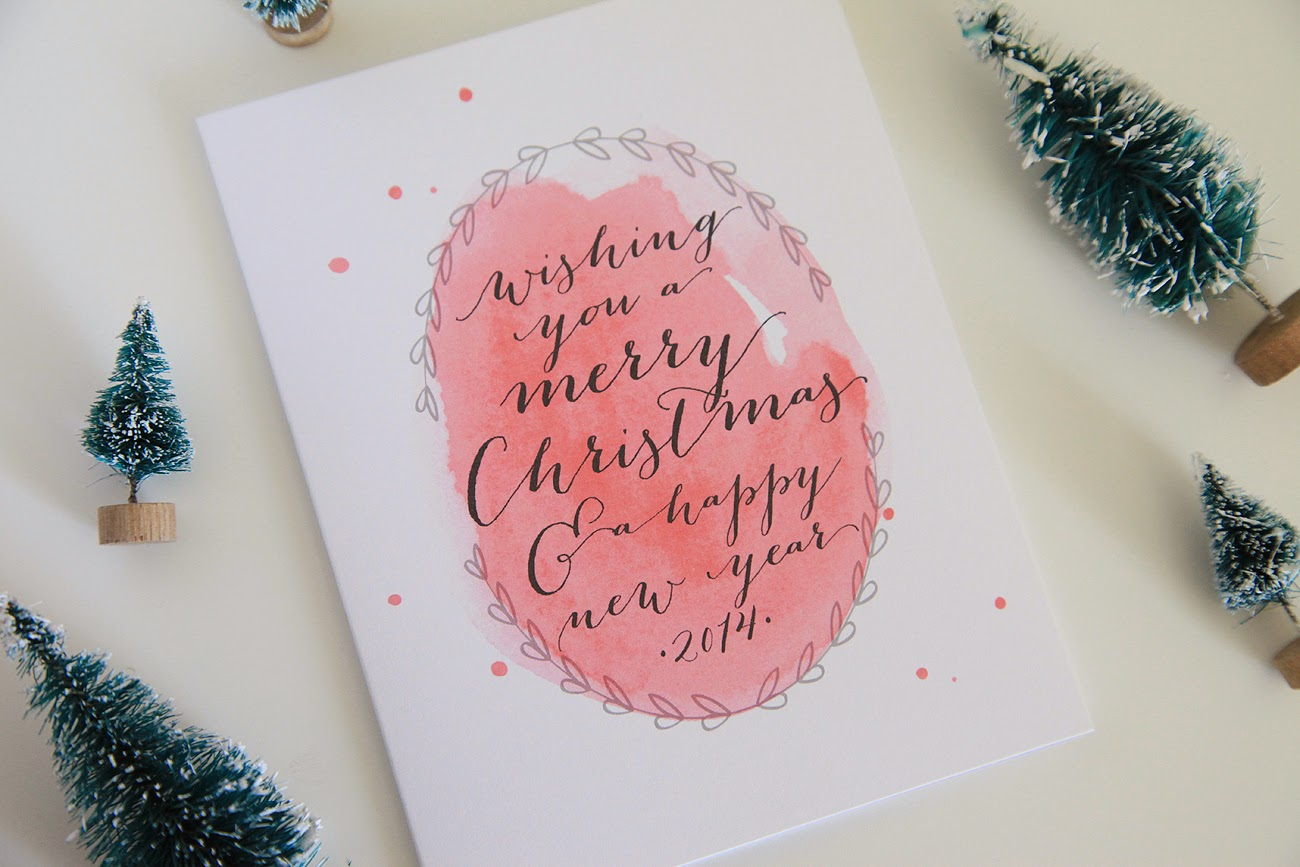 1300x867 Unify Handmade Watercolor Christmas Cards