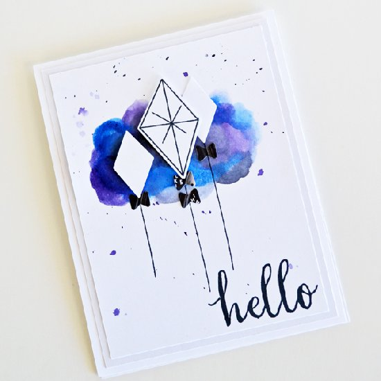 550x550 Watercolor Fun On A Handmade Card Crafthubs