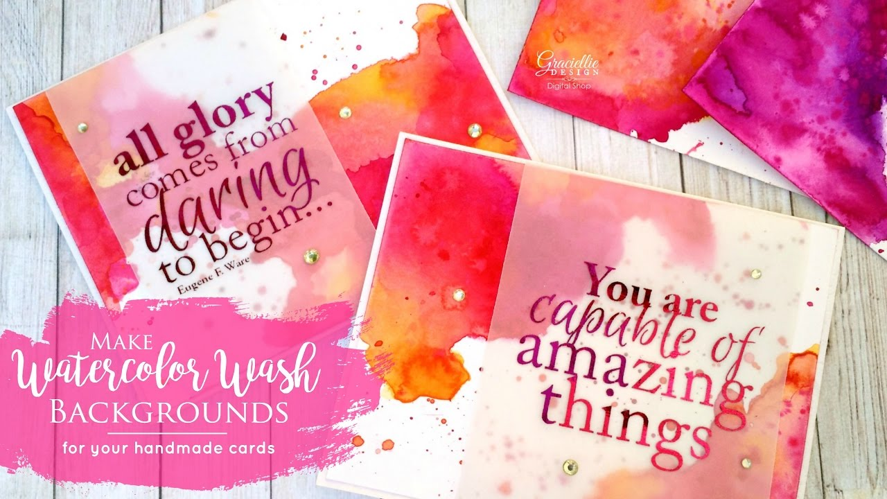 1280x720 Watercolor Wash Backgrounds For Handmade Cards
