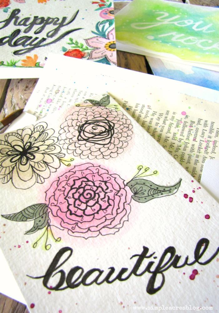 700x1000 Handmade Watercolor Cards