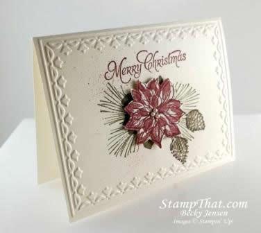 376x336 Watercolor Winter Stamp Set Handmade Chirmstas Poinsettia Card