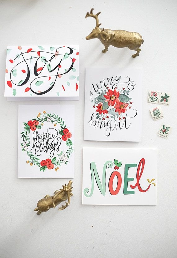 Ideas For Christmas Cards Handmade.Handmade Watercolor Christmas Cards At Getdrawings Com