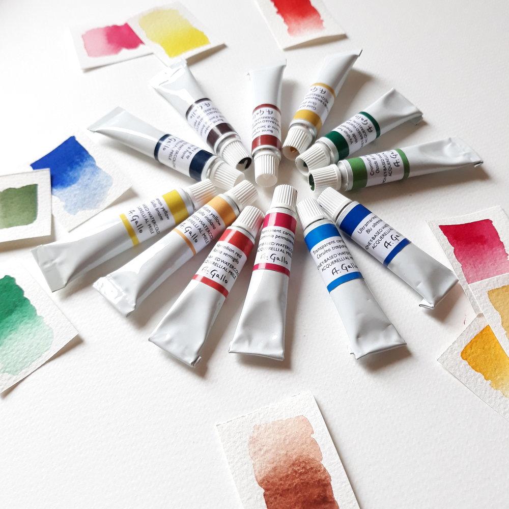 1000x1000 Handmade Watercolor 8ml Tubes