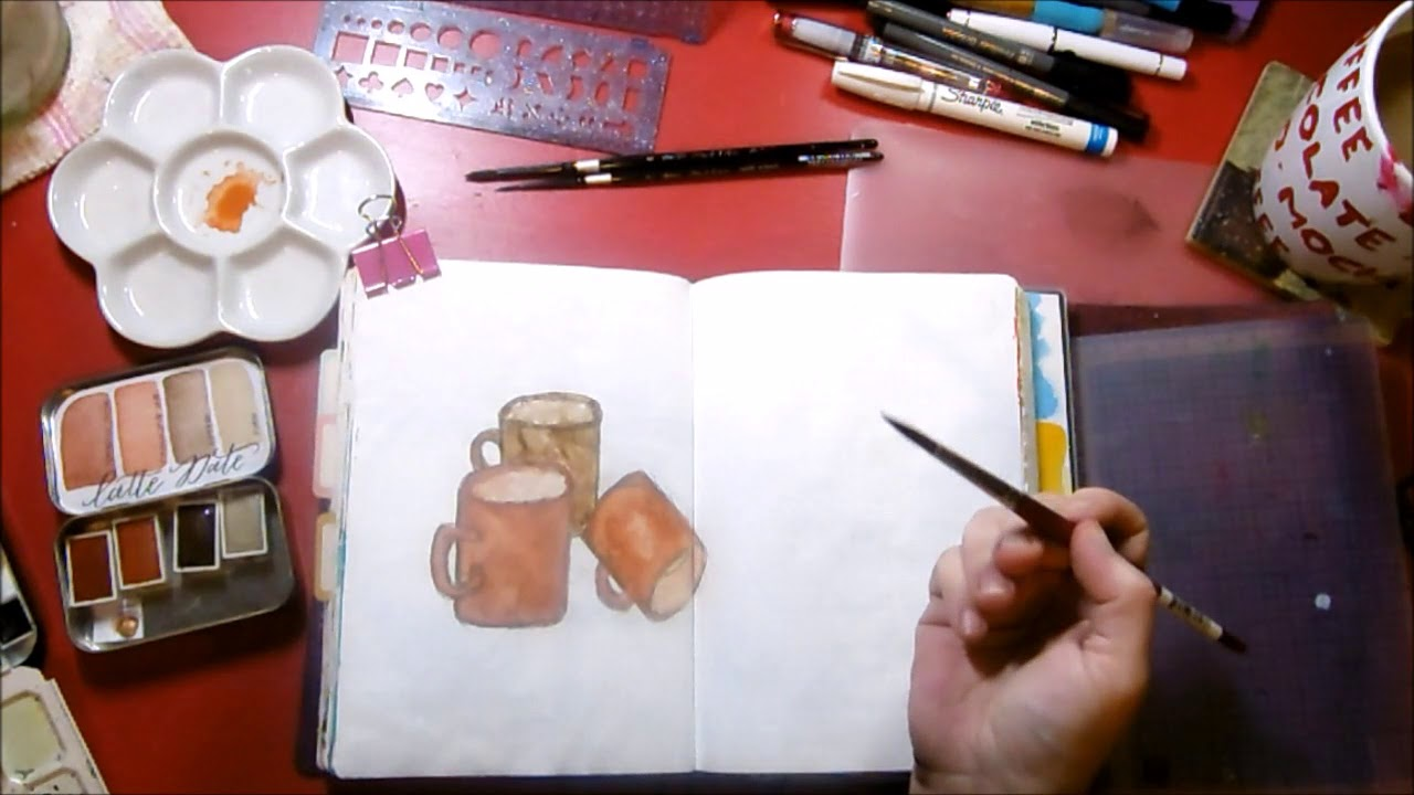1280x720 Journal Process With Handmade Watercolor By Designsbyrachelbeth