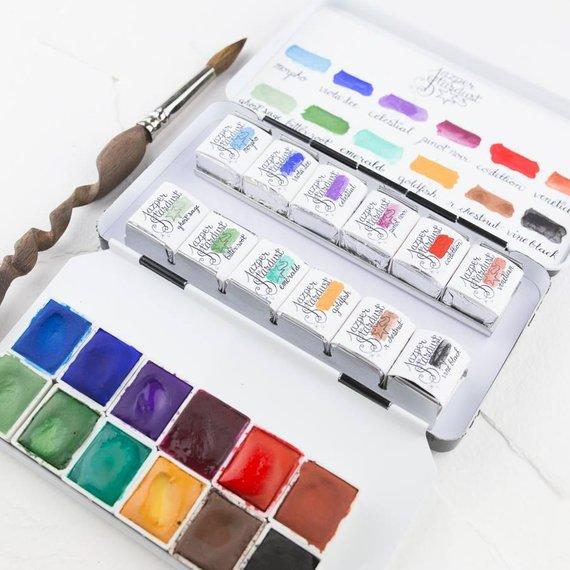 570x570 Meadow Jewels Artisan Handmade Watercolor Paint Set Etsy