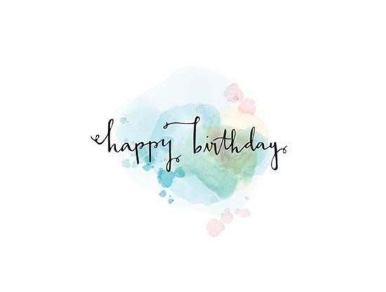 Happy Birthday Watercolor