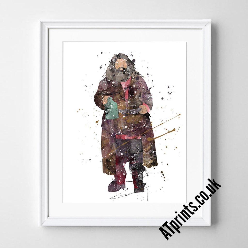 1024x1024 Harry Potter Watercolour Art Print