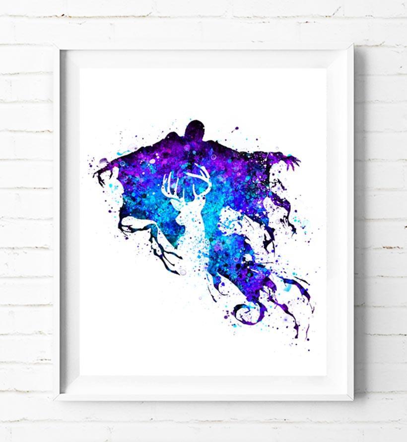 820x891 Harry Potter Dementor Patronus Charm Poster Art Print Watercolor