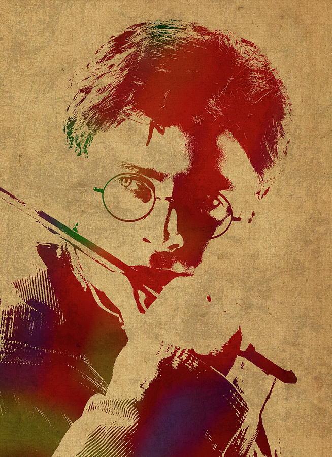 654x900 Harry Potter Watercolor Portrait Mixed Media By Design Turnpike