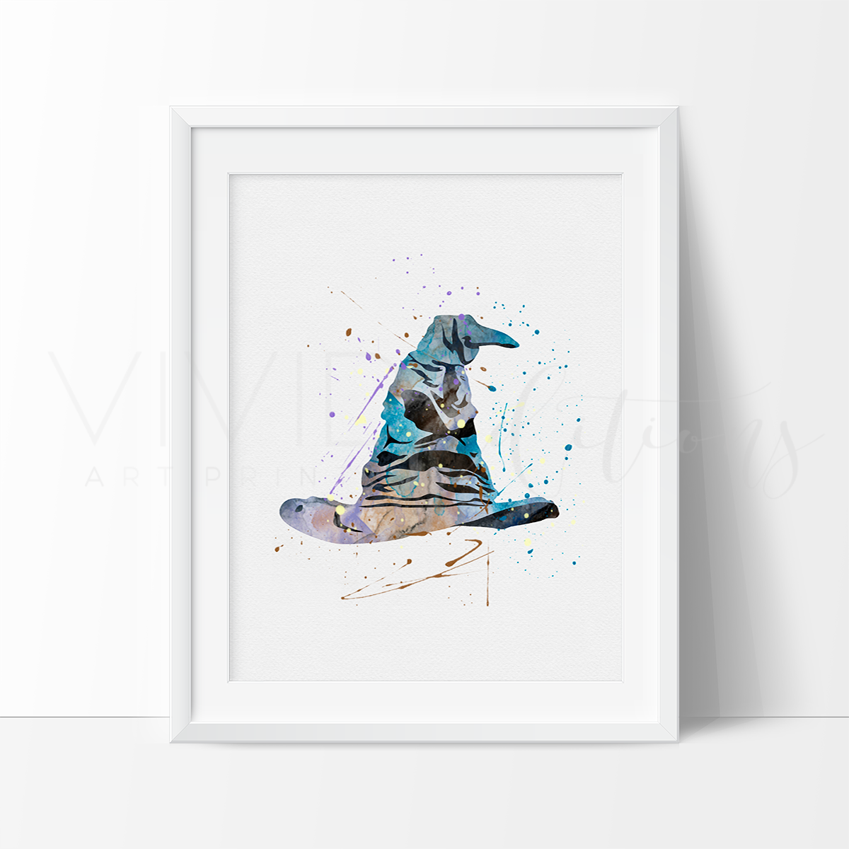 1200x1200 Amazing Harry Potter Sorting Hat Watercolor Bedroom, Playroom Or