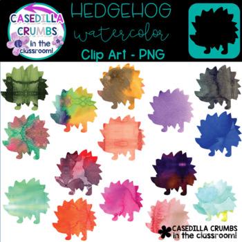 350x350 Hedgehog Watercolor Clip Art