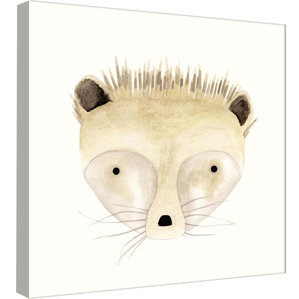1000x1000 Ptm Images 15.in X 15.in 'Hedgehog Watercolor Face' Printed