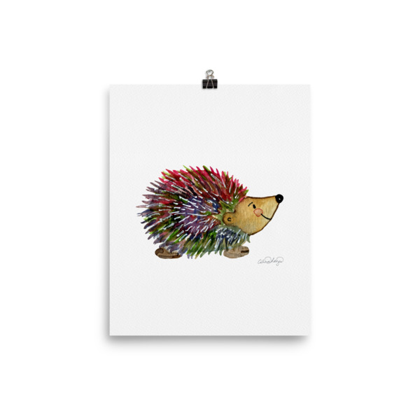600x600 Alicia Hayes Offers Her Hedgie The Hedgehog Watercolor Painting On