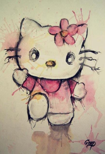 Hello Kitty Watercolor