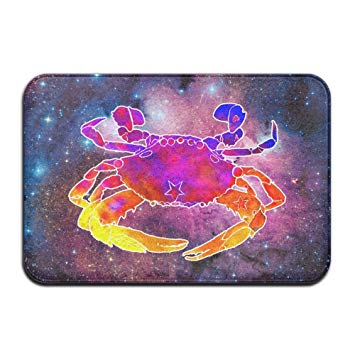 355x355 Soft Non Slip Watercolor Hermit Crab Bath Mat Coral