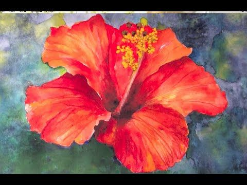 480x360 Easy, Step By Step Tutorial, How To Paint Hibiscus Flower In