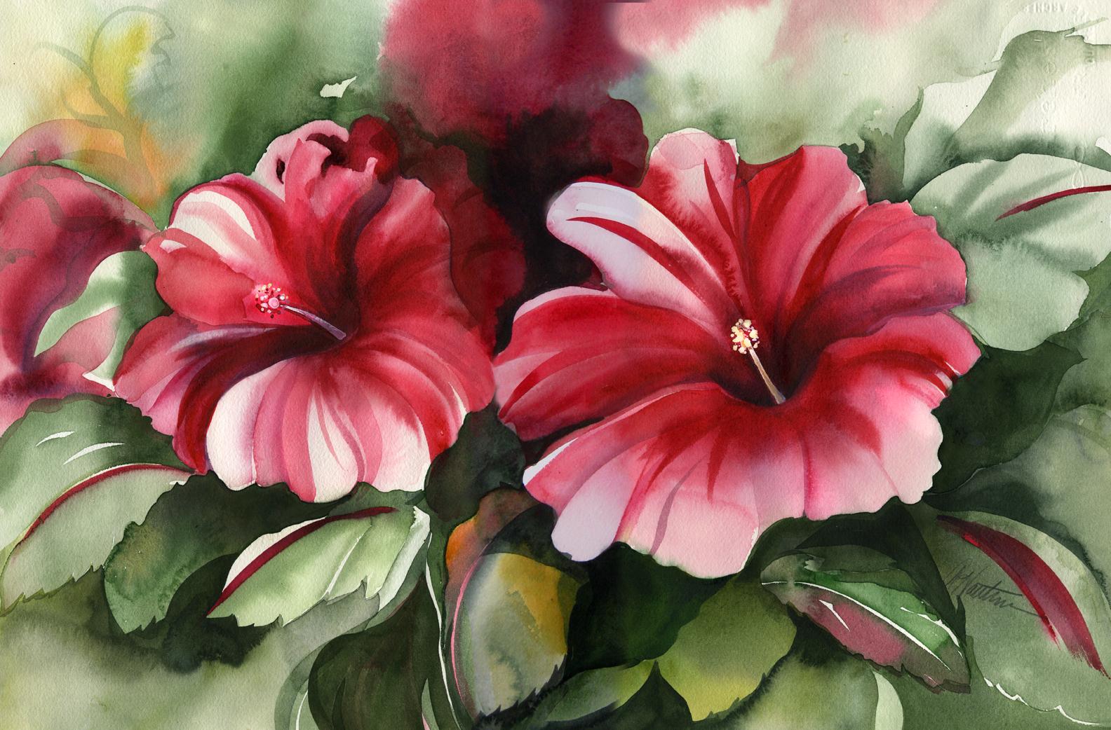 Hibiscus Watercolor