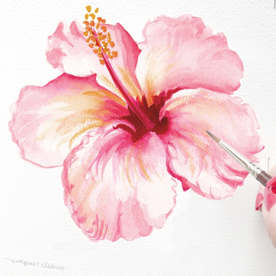 950x950 Hibiscus Watercolor Paintings Custom Listing For Caroline B