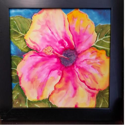 505x502 Ken Oliver ~ Hibiscus Watercolor Painting