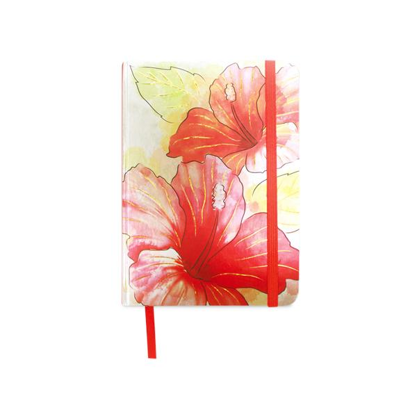 600x600 Hibiscus Watercolor Foil Notebook Large Soha Living
