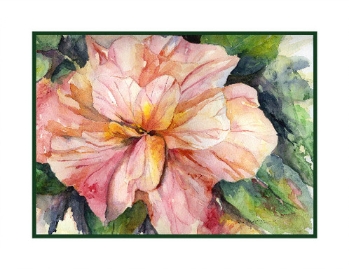498x384 Hibiscus Watercolor Note Cards