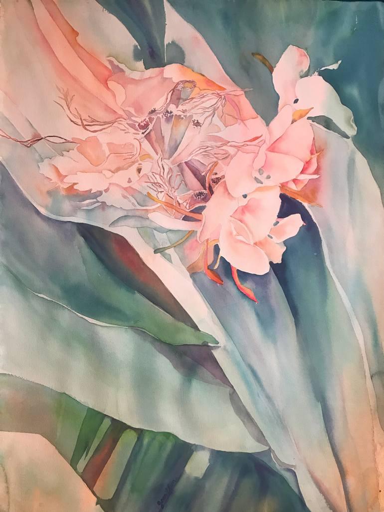 770x1027 Hibiscus Flower Painting By Joan Elion Saatchi Art