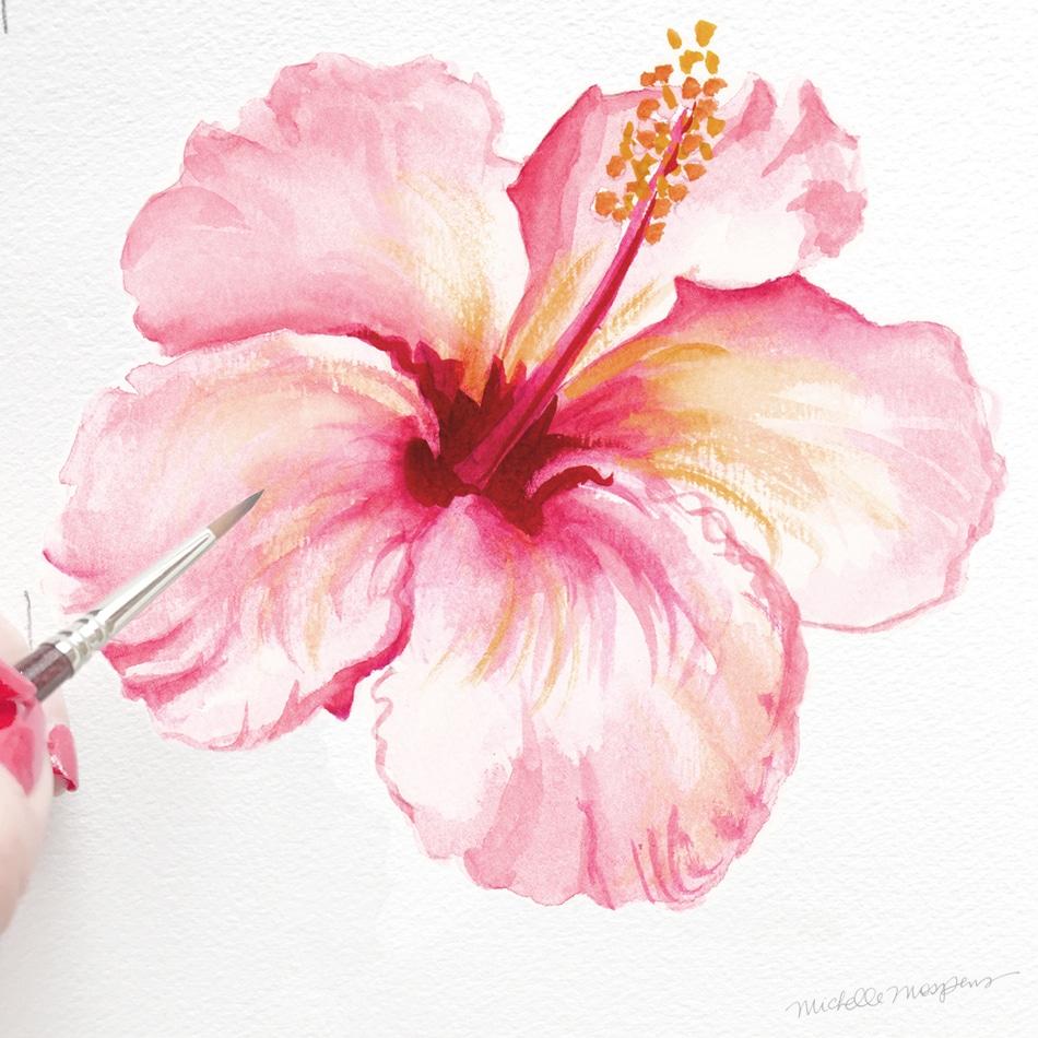950x950 Key West Hibiscus Folder Custom Watercolor Invitations Amp Unique