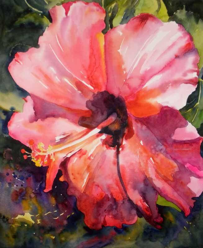 654x800 Hibiscus Watercolor Paintings 16x13 25 Watercolor On Italia 140