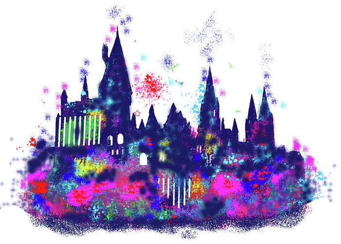 700x500 Harry Potter Hogwarts Castle Greeting Card For Sale By Midex Planet