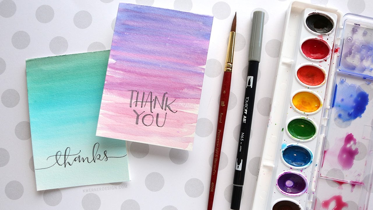 1280x720 Easy Diy Thank You Cards Watercolor)