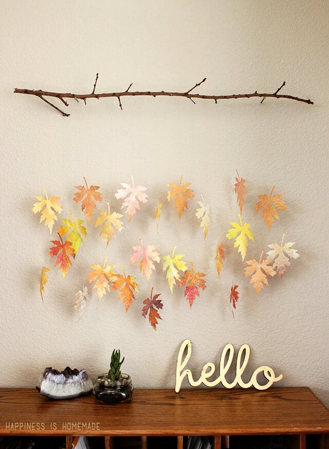 640x873 Watercolor Paper Leaf Amp Branch Mobile