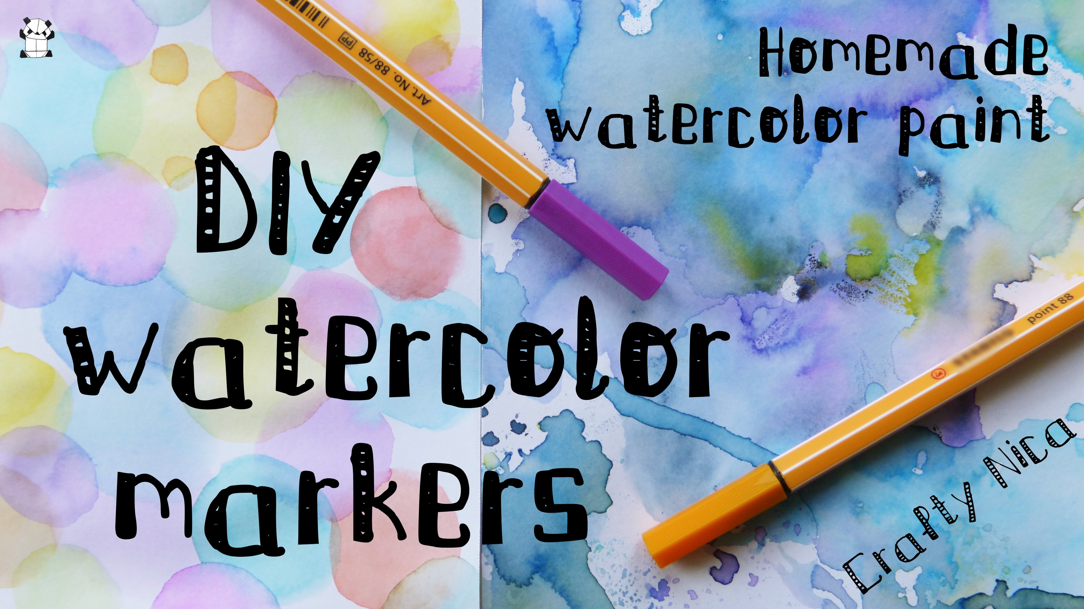 4096x2304 Diy Homemade Watercolor Markers. How To Make Watercolor Paint +
