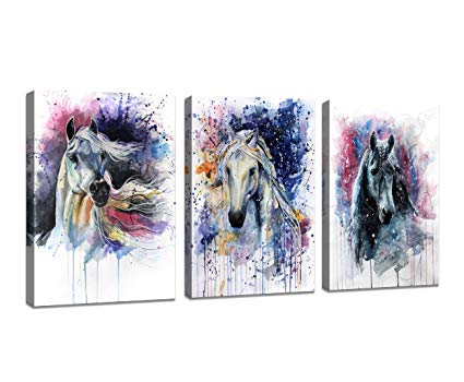 Horse Watercolor Art