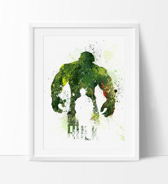 547x600 Hulk Poster, Superhero Art, Superhero Print, Watercolor Print