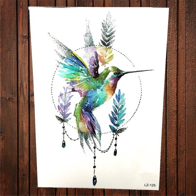 Hummingbird Art Watercolor