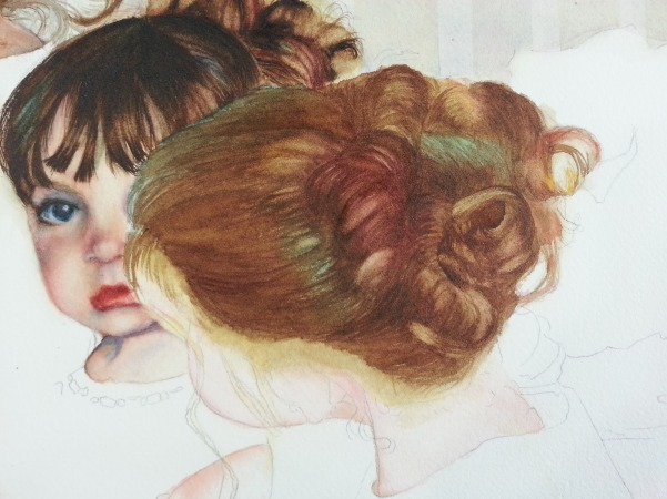 601x450 How To Paint Dark Hair In Watercolor