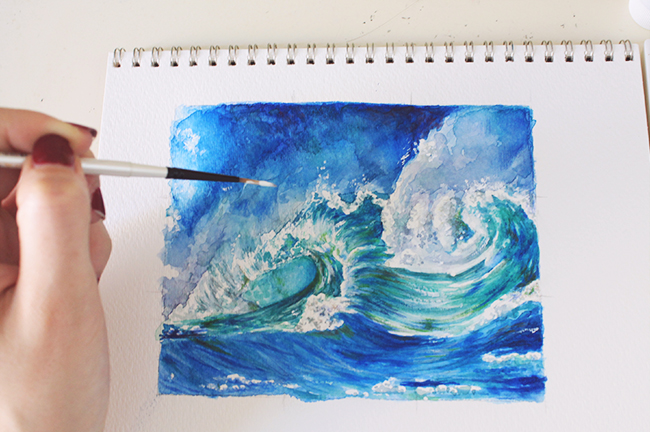 650x432 How To Paint Waves A Step By Step Mixed Media Tutorial