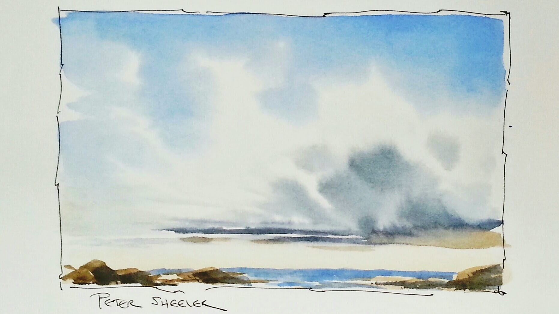 1862x1048 How To Paint Clouds And Sky In Watercolor. In Real Time. Simple