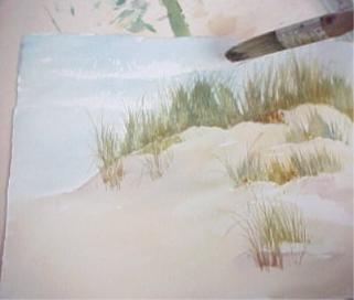 321x272 How To Paint Sand And Beach Grass In Watercolor Tips By Susie Short