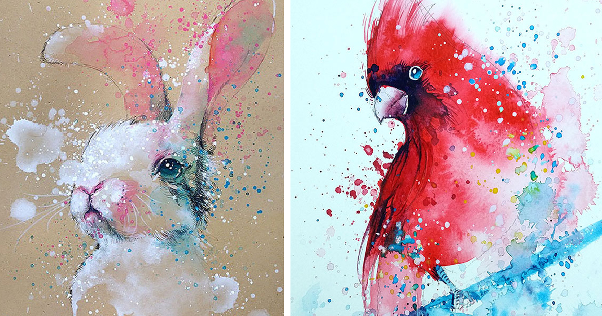 1200x630 Splashed Watercolor Paintings By Tilen Ti Bored Panda