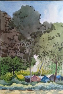 220x328 Indian Watercolor Paintings Watercolor Paintings By Indian Artists