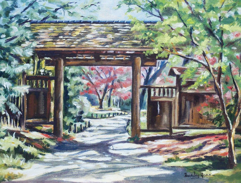 1024x777 Beverley Jane Titlejapanese Garden Entrance Buy Rva Art