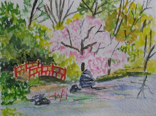 500x372 Wde March 30 Japanese Garden In Watercolor