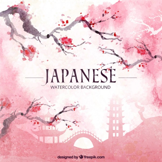 626x626 Japanese Watercolor Background Japanese Watercolor Background With