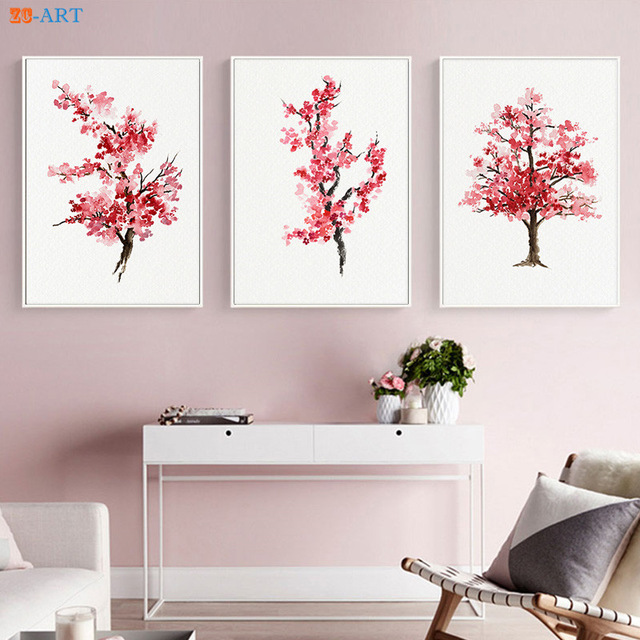 Japanese Watercolor Cherry Blossoms