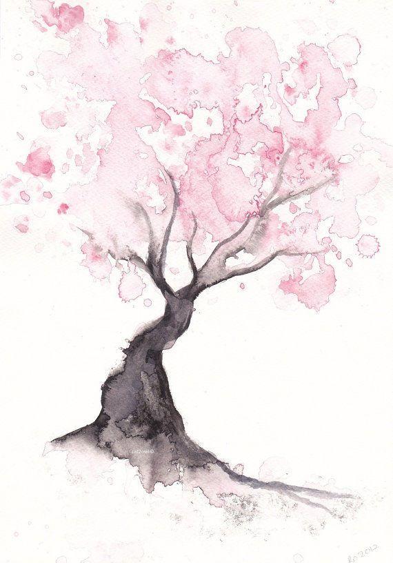 570x816 Spring Cherry Blossom Tree Home Decor Art Print Gift Bedroom Decor